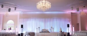 wedding BackDrop by AV Musica Pro Pipe and Drapes